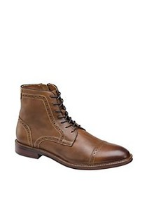 Johnston & Murphy Warner Leather Cap-Toe Zip Boots