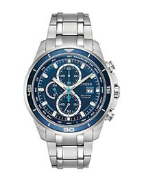 Citizen Ti+IP Eco-Drive Analog Stainless Steel Wat