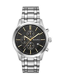 Bulova Stainless Steel Chronograph Watch SILVER