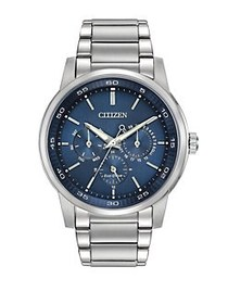 Citizen Mens Eco-Drive Day and Date Watch SILVER