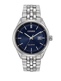 Citizen Mens Dress Eco-Drive Stainless Steel Brace