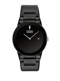 Citizen Axiom Eco-Drive Stainless Steel Black Watc