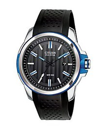 Citizen Eco-Drive Stainless Steel Blue-Accent Faux