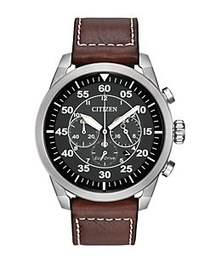 Citizen Eco-Drive Avion Stainless Steel Chronograp