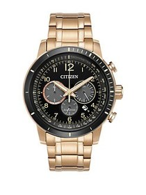 Citizen Eco-Drive Chronograph Analog Watch GOLD