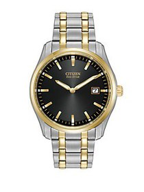 Citizen Mens Eco-Drive Two-Tone Bracelet Watch TWO