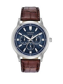 Citizen Corso Stainless Steel Eco-Drive Leather-St