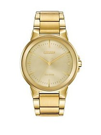 Citizen Citizen Eco-Drive Men's Axiom Goldtone Sta
