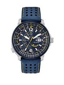 Citizen Angel Nighthawk Stainless Steel and Leathe