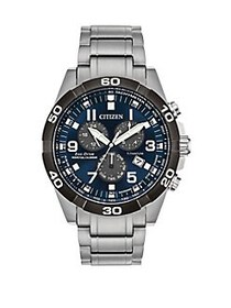 Citizen Brycen Titanium Bracelet Watch SILVER