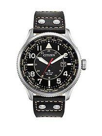 Citizen Promaster Nighthawk Stainless Steel & Leat