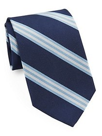 Brooks Brothers Classic Double Stripe Tie NAVY