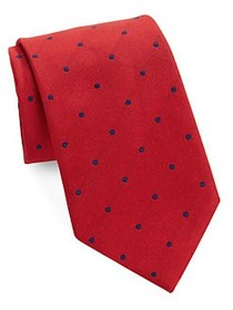 Brooks Brothers Classic Polka Dot Tie RED
