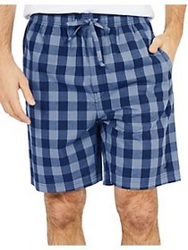 Nautica Buffalo Plaid Cotton Sleep Shorts BLUE