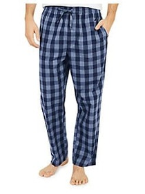 Nautica Buffalo Plaid Cotton Pajama Pants BLUE