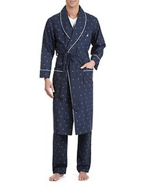 Nautica J-Class Woven Shawl Collar Robe NAVY