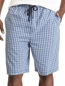 Nautica Plaid Cotton Pajama Shorts BLUE