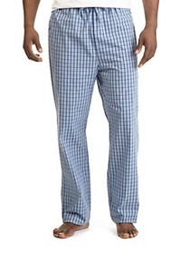 Nautica Plaid Cotton Pajama Pants LT FRENCH BLUE