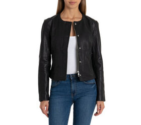 Isaac Mizrahi Live! Suede Utility Jacket with Prin
