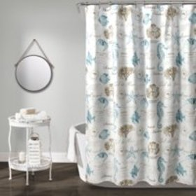 Harbor Life Shower Curtain Blue/Taupe 72X72