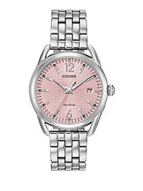 Citizen Drive Eco-Drive Light Pink Dial Watch SILV