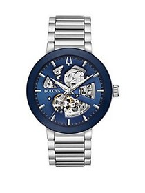 Bulova Classic Stainless Steel Automatic Watch SIL