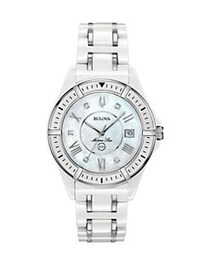 Bulova Marine Star Diamond, Stainless Steel Bracel