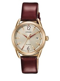 Citizen Drive Rose Goldtone Stainless Steel and Le