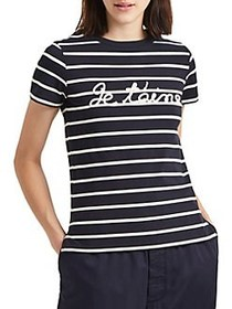 French Connection Logo Striped Short-Sleeve Tee UT