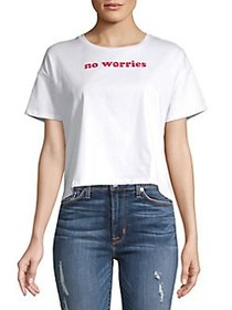 French Connection No Worries Cotton Cropped Top WH