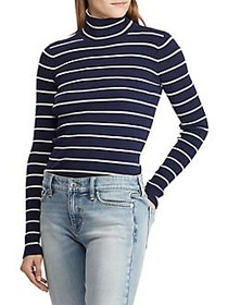 Lauren Ralph Lauren Striped Turtleneck Sweater NAV