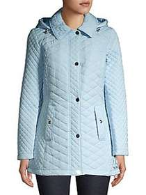Jones New York Collection Quilted Front Snap Jacke