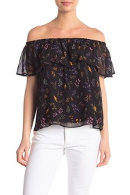 Rebecca Minkoff Dev Floral Off-the-Shoulder Top