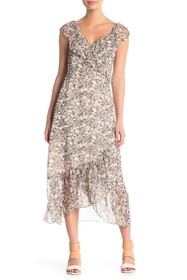 Rebecca Minkoff Jessica Floral Hi-Lo Wrap Dress