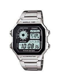 Casio Casio Men's World Time Watch, Stainless-Stee