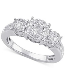 Diamond Three Stone Engagement Ring (3/4 ct. t.w.)