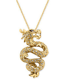 EFFY® Diamond Dragon Pendant Necklace (5/8 ct. t.w