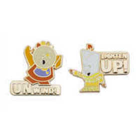 Cogsworth and Lumiere Pin Set - Beauty and the Bea