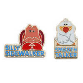 Sebastian and Scuttle Pin Set - The Little Mermaid