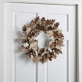 Paper Oak Leaf Wreath