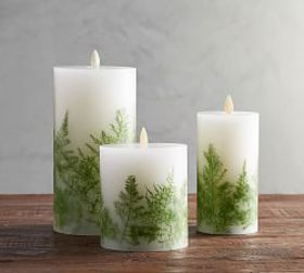 Premium Flicker Flameless Candle - Fern Inclusion