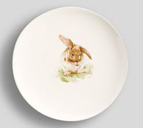 Pasture Bunny Dinner Plate, Set of 4