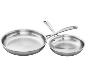 ZWILLING Spirit 3-Ply Stainless 2-Pc Fry Pan Set -