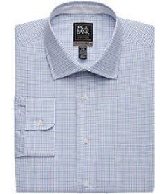 Travel Tech Tailored Fit Spread Collar Check Dress