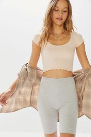Out From Under Val Seamless Lettuce-Edge Cropped T