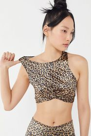 Out From Under Sam Leopard Print Twist-Front Bra T