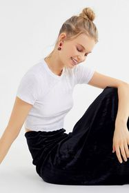Project Social T Winnie Ribbed Knit Cropped Top