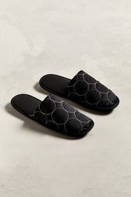 UO Quilted Polka Dot Scuff Slipper