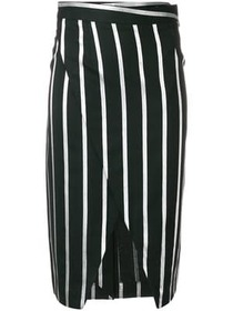 Each X Other striped wrap-front pencil skirt