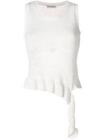 Each X Other asymmetric ripped knitted top
